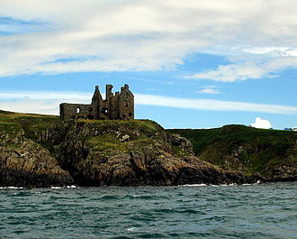 Scheduled monument - Dunskey Castle