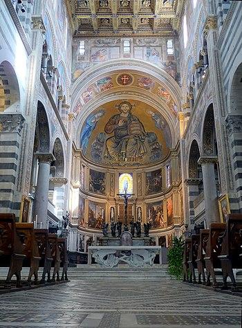 English: Cathedral of Pisa (Duomo di Pisa), Ap...