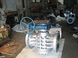 Plug valve - Handwheel operated plug valve.
