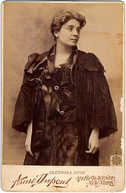 Eleonora Duse. Nowy Jork, 1896