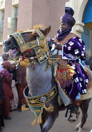 Durbar festival - Horseman at Kano Durbar (2006)