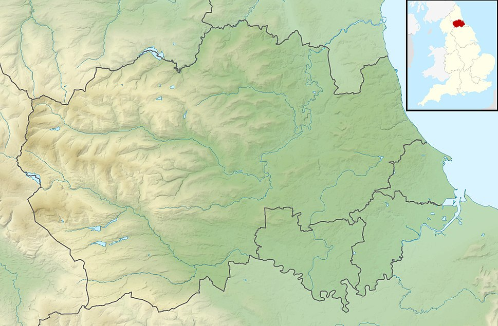 Map showing the location of Backstone Bank and Baal Hill Woods