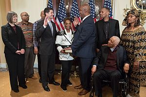 Dwight Evans (politician) - Evans being sworn in by Speaker Paul Ryan