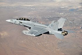 Un EA-18G Growler en vol.