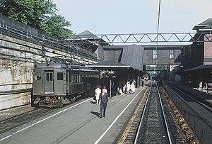 Summit station (NJ Transit) - Image: EL MU train waiting to depart Summit, NJ on June 21, 1968 (24070419546)