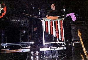 N.U. Unruh - N. U. Unruh with one of his special built instruments (live with Einstürzende Neubauten, 2000)