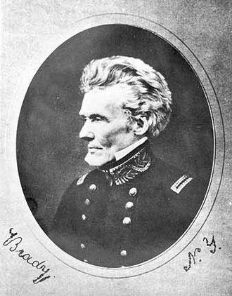 Siege of Fort Erie - American Brigadier General Edmund Pendleton Gaines, commander of Fort Erie until wounded on 29 August, photographed in later life