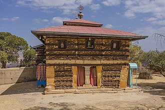 Tigrayans - Typical Aksumite architecture — the monastery of Debre Damo, Tigray region.
