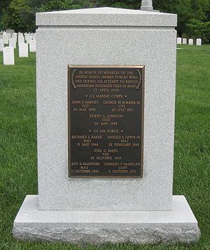 Operation Eagle Claw - Operation Eagle Claw Memorial in Arlington National Cemetery