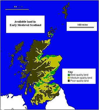 Map of available land in Medieval Scotland.[11]