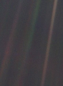 "Earth as a ""Pale Blue Dot"" photographed by Voyager 1 - 19900606.tif"