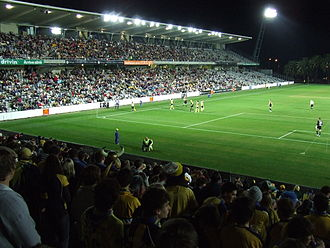 Central Coast Stadium - East stand of Bluteongue Stadium during a 2007 Preseason Cup match