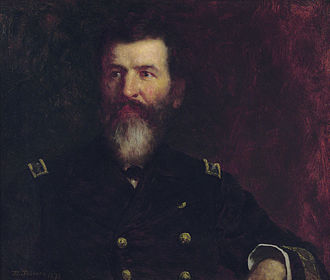 Eastman Johnson - Eastman Johnson's portrait of his brother, Commodore Philip Carrigan Johnson, oil on canvas, 21 × 25 in., 1876