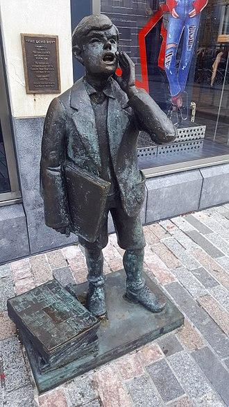 The Echo (Cork newspaper) - Echo Boy statue, Cork City