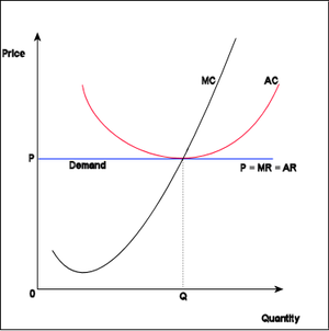 Economics Perfect competition graph