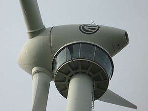 Enercon E-66 wind turbine with an observation ...