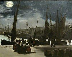 Édouard Manet: Clair de lune sur le port de Boulogne