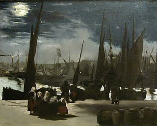 <i>The Port of Boulogne by Moonlight</i> Painting by Édouard Manet