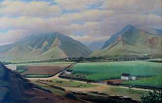 Wailuku, Hawaii - Pre-1903 Wailuku and Iao Valley by 19th century American artist Edward Bailey