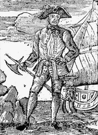 Edward England - An 18th century woodcut of Irish pirate Edward (Seegar) England.