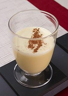 Eggnog Sweetened dairy-based beverage