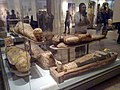 Egyptian mummies, British Museum.jpg