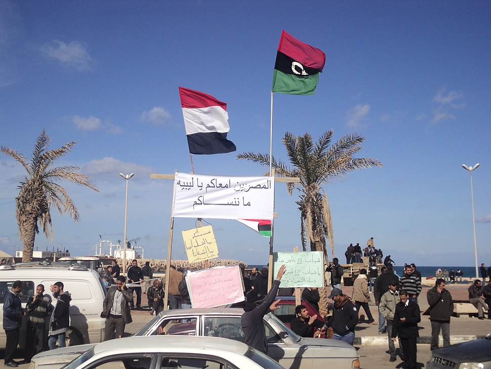 Egyptian youth at the Benghazi rally