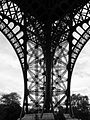 Eiffel Tower arch from underneath.JPG