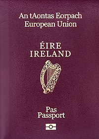 to Irish citizens by the Department of Foreign Affairs in Dublin