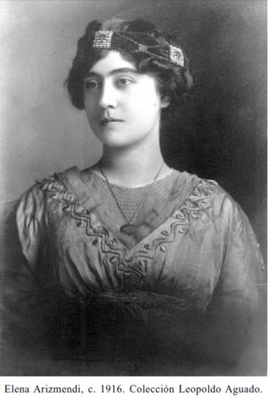 Elena Arizmendi Mejia - Image: Elena Arizmendi ca 1916