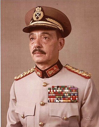 Mohamed Abdel Ghani el-Gamasy - Field Marshal Mohamed Abdel Ghani el-Gamasy, Minister of Defence and Military Production, c.1977