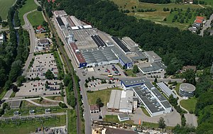 VARTA - Aerial picture of the Varta Microbattery factory in Ellwangen
