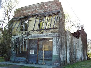 Emmett Till - The remains of Bryant's Grocery and Meat Market as it appeared in 2009