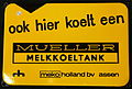 Enamel advertising sign, Mueller melloeltank, MEKO Holland bv, Assen.JPG