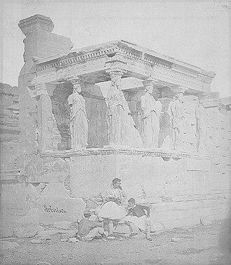 James Robertson (photographer) - Image: Erechtheum Acropolis 1853