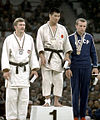 Eric Hänni, Takehide Nakatani, Oleg Stepanov 1964.jpg