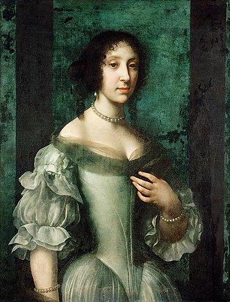 Claudia Felicitas of Austria - Portrait by Carlo Dolci, 1672