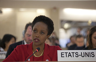 Syrian Civil War - Esther Brimmer (U.S.) speaks at a United Nations Human Rights Council urgent debate on Syria, February 2012