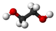Ball and stick model of ethylene glycol