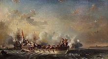 Eugene Isabey, l'embarquement de l'amiral Ruyter (1850).jpg