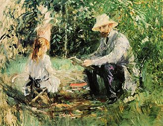 Julie Manet - Image: Eugene Manet and His Daughter in the Garden 1883 Berthe Morisot