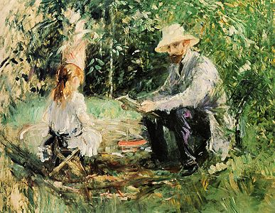 387px Eugene Manet and His Daughter in the Garden 1883 Berthe Morisot