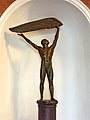 Eugeny Kolchev Sculpture of Icarus in cinema Pobeda, Minsk 02.jpg