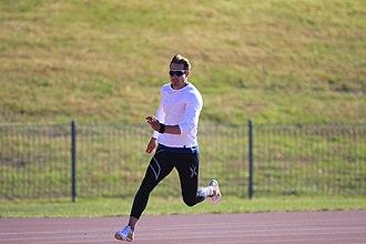 Evan O'Hanlon - Image: Evan O'Hanlon at the at the AIS Track and Field