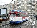 Ex-Darmstadt tram at Gara on Iasi route 6 in January 2006.jpg