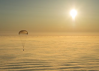 Aerospace engineering -  Soyuz TMA-14M spacecraft engineered for descent by parachute