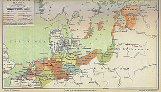 Middle Low German - Image: Extent of the Hansa optimiert