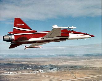 Northrop F-20 Tigershark - The first F-20 in Northrop colors.