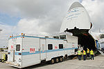 FAA mobile control tower & equipment loaded onto Antonov An-124 at HST 2010-01-21 1.JPG
