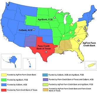 Farm Credit System - Farm Credit Bank (and Agricultural Credit Bank) charter territories